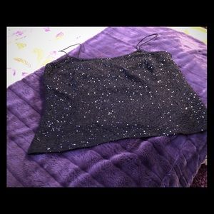 Vintage Ann Taylor Sequined Spaghetti Strap Top